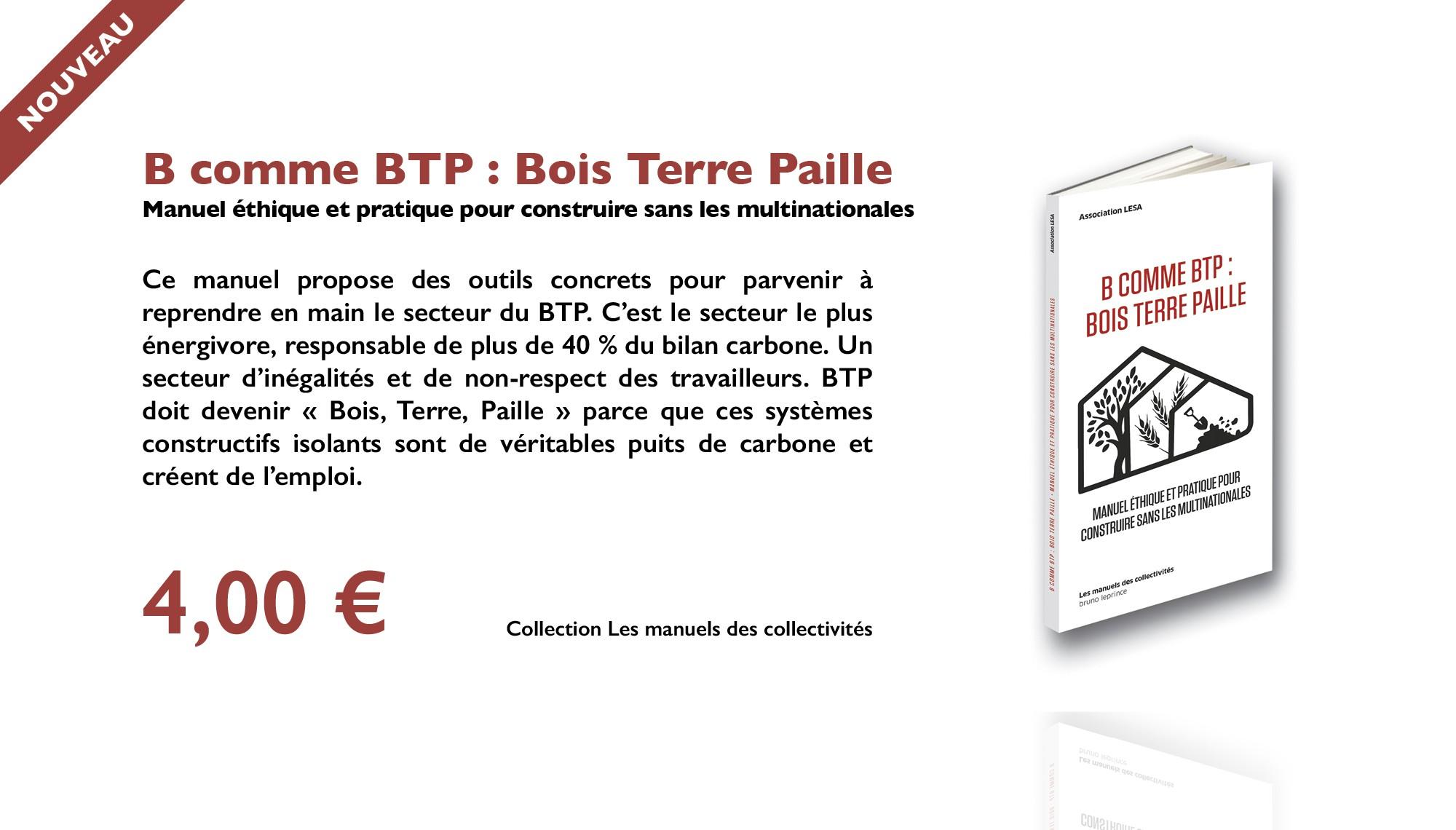 B comme BTP : Bois Terre Paille